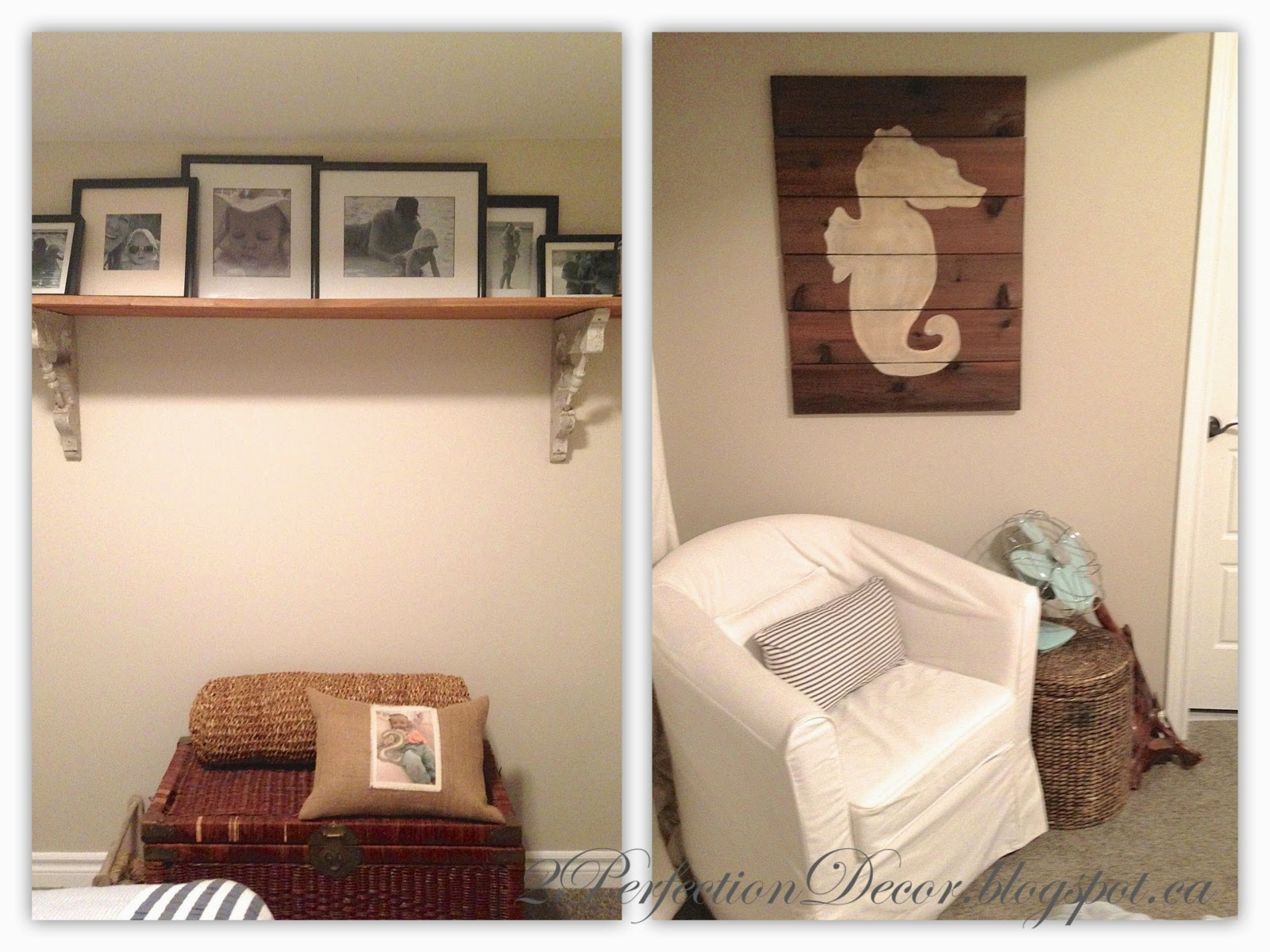 2perfection Decor Basement Coastal Bathroom Reveal: 2Perfection Decor: Our Basement Guest Bedroom Reveal
