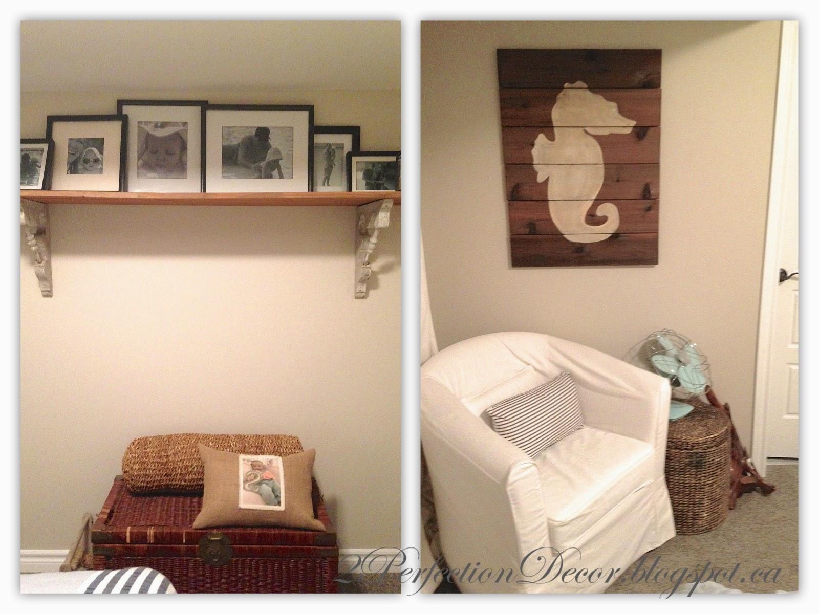 2perfection Decor Basement Coastal Bathroom Reveal: 2Perfection Decor: Our Basement Guest Bedroom Reveal