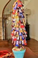 arbol de navidad con dulces y chocolates