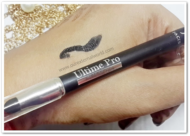 FACES Utlime Pro Intense Gel Kajal - Review, Swatch, Price