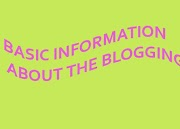 Blog Basic Information in English Complete information