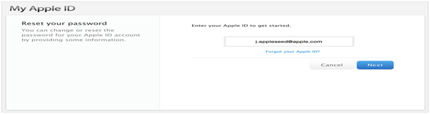 Reset Apple Security Questions