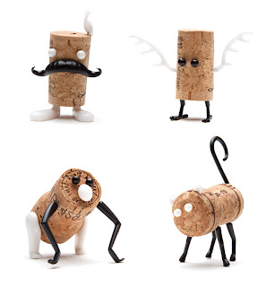 animales hechos con corchos reciclados