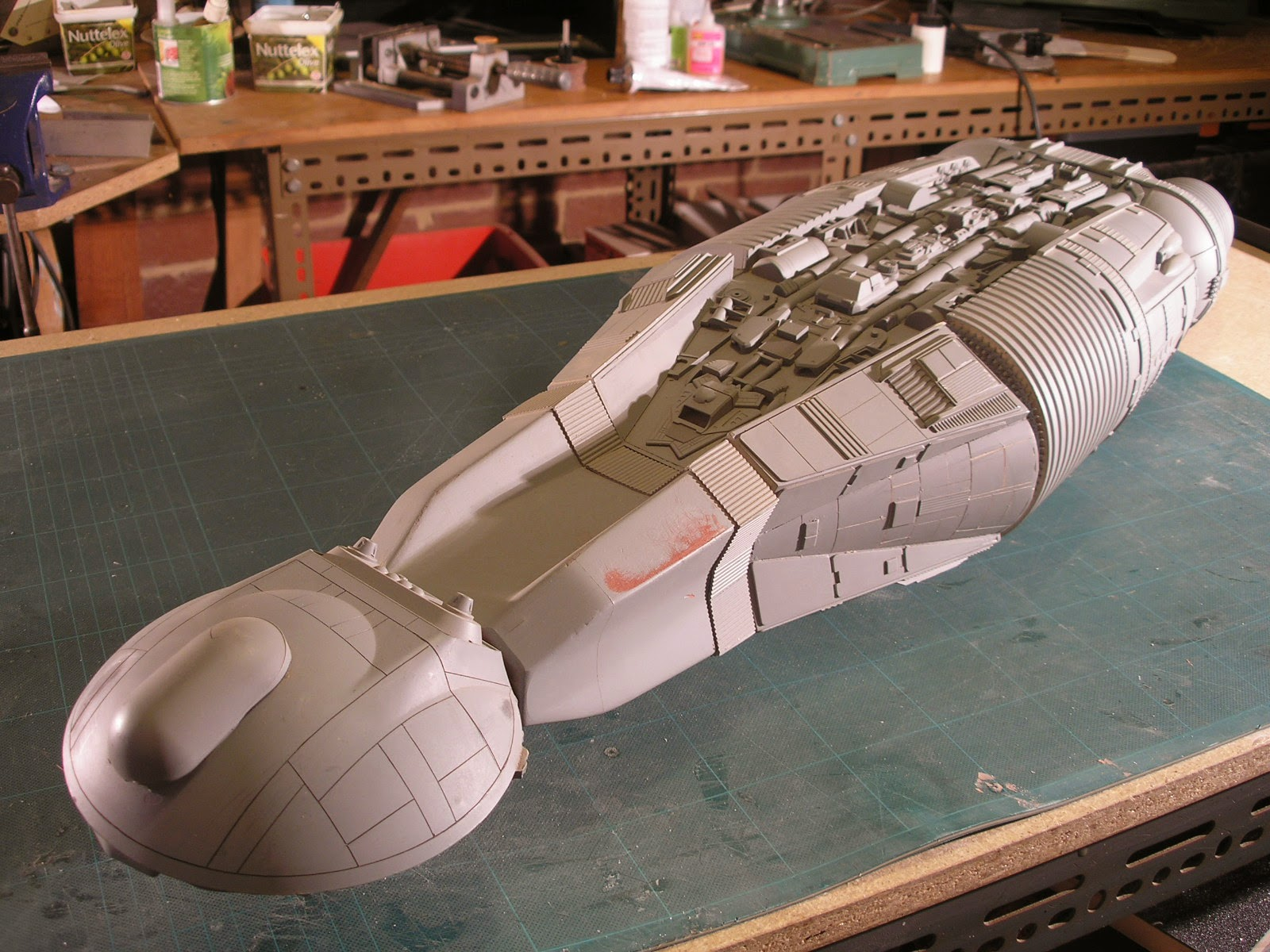 Rc Sci Fi Unfinished Old Spaceship Model Part 2