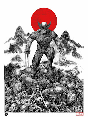 Wolverine Fine Art Giclee Print by Mark Chilcott x Grey Matter Art