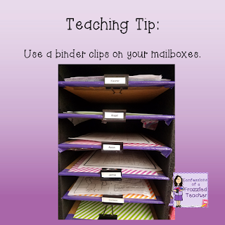 Teaching Tip: Use Binder Clips for Your Mailboxes