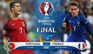 prediksi portugal vs prancis final piala eropa 2016