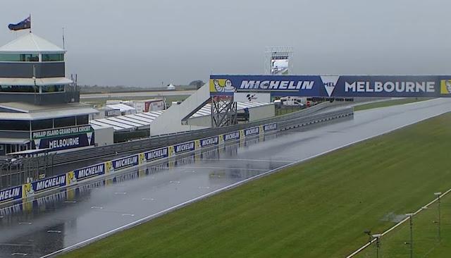 berita motogp Latihan Bebas 2 MotoGP Phillip Island : Hasil Kacau karena hujan
