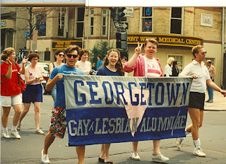 gay pride parade washington dc 1988 Georgetown University alumni