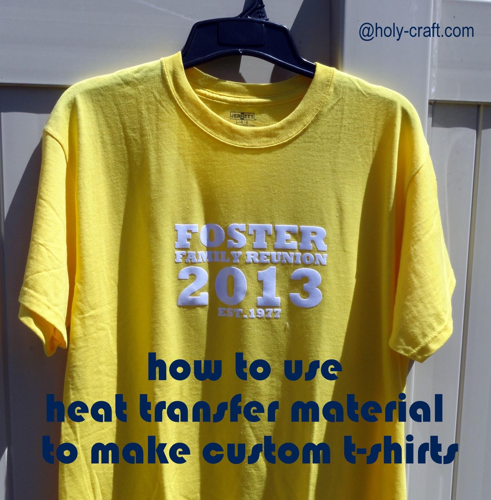 How to make custom t-shirts with heat transfer material - Rachel Teodoro