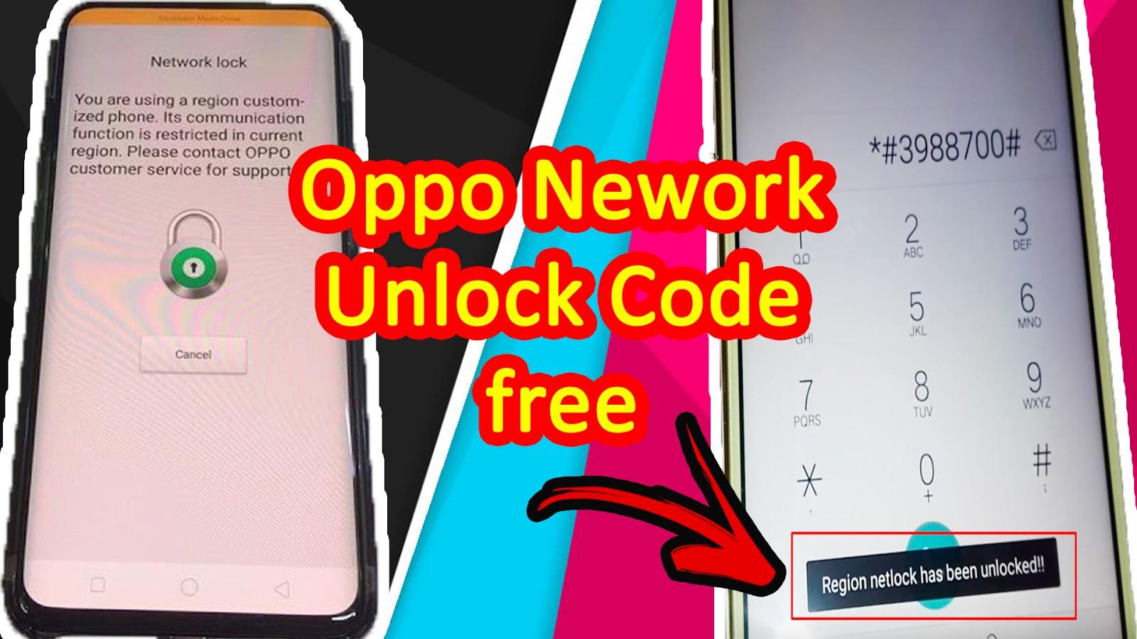Oppo Network Unlock Code Free  A3s,R9s,R11s, Network Unlock