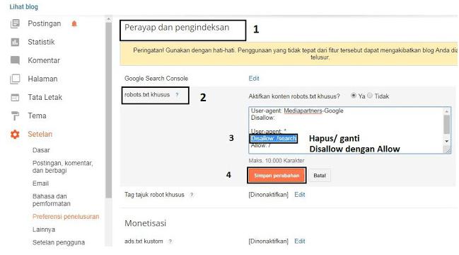 Diindeks, meski diblokir oleh robots.txt 4
