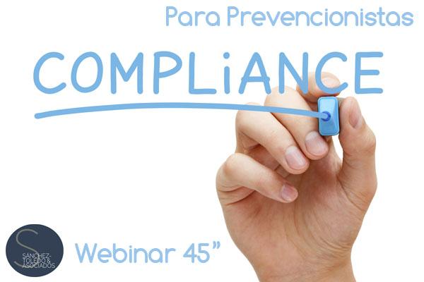 """Cartel anunciado del Webinar, """"Compliance para prevencionistas"""""""