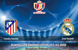 Prediksi Atletico Madrid Vs Real Madrid 7 Febuari 2019