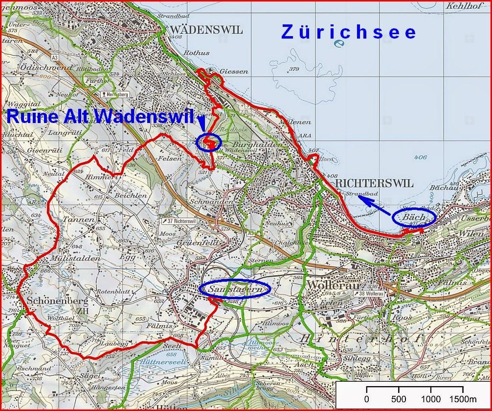 Pfannenstiel Wanderblog: Bäch - Richterswil - Wädenswil ...