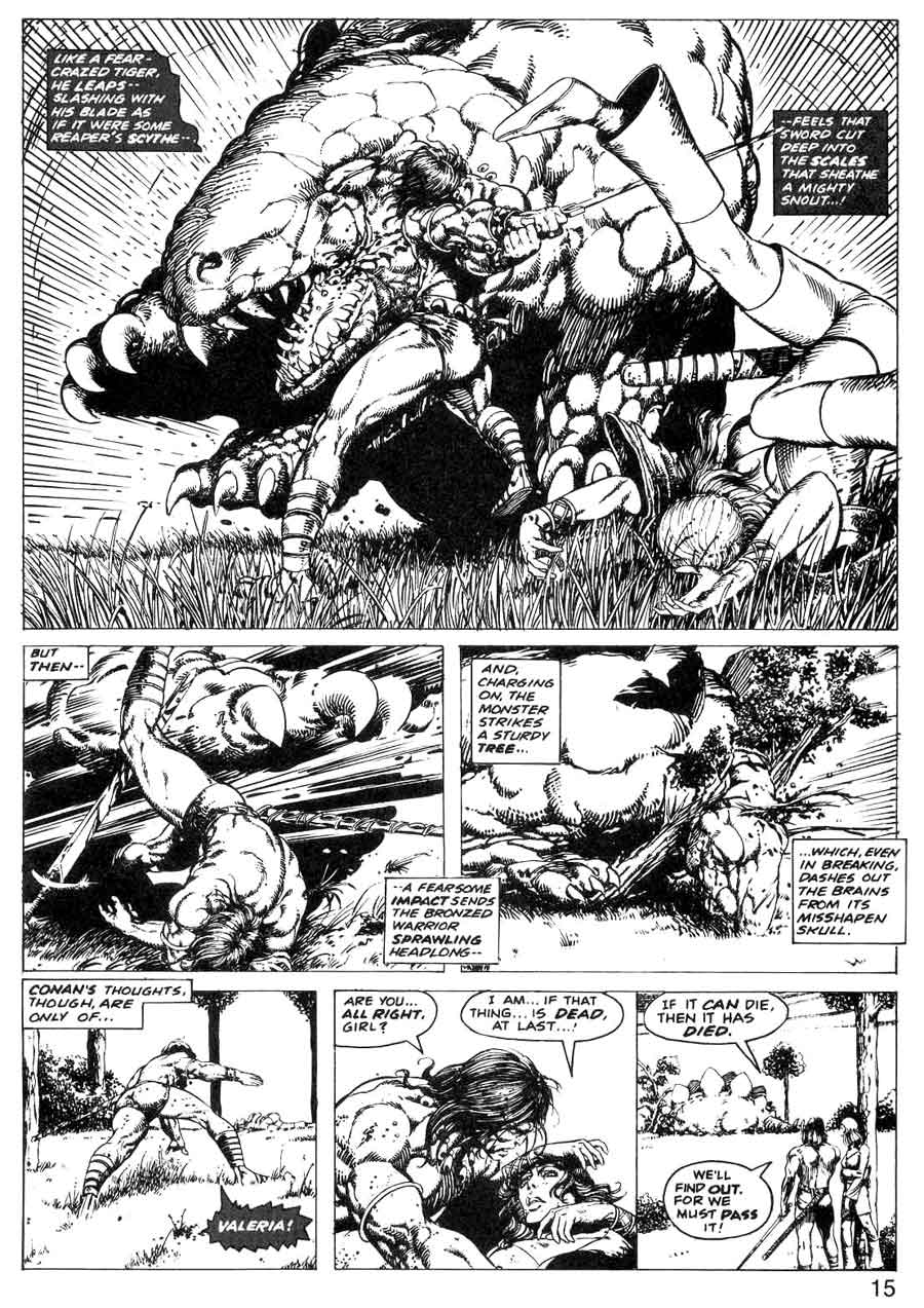 Savage Tales v1 #2 marvel comic book page art by Barry Windsor Smith