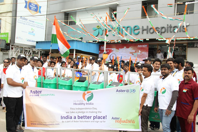 ASTER Prime Hospital, HYDERABAD launches my india healthy india campaign