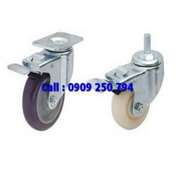 Bánh xe đẩy có khóa, bánh xe Nylon, bánh xe PU, bánh xe đẩy tải trọng trung bình