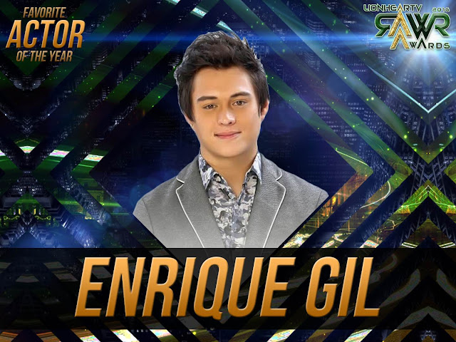 CUB: Enrique Gil wins Favorite Actor of the Year #RAWRAwards2016