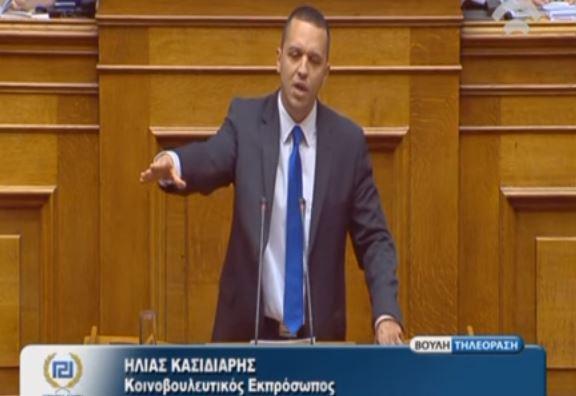 Επική ομιλία Κασιδιάρη: «Οι πολίτες μου λένε να σας ταράξουμε στο ξύλο» .(Βίντεο)