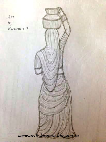 Pencil Sketches For Women's Day