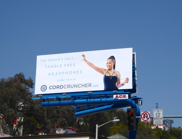 Cordcruncher Tangle free headphones billboard