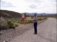 Dennis Balthaser at Area 51 Entrance