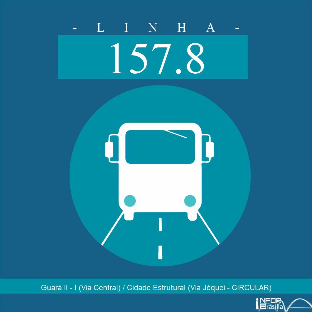 Horário de ônibus e itinerário 157.8 - Guará II - I (Via Central) / Cidade Estrutural (Via Jóquei - CIRCULAR)
