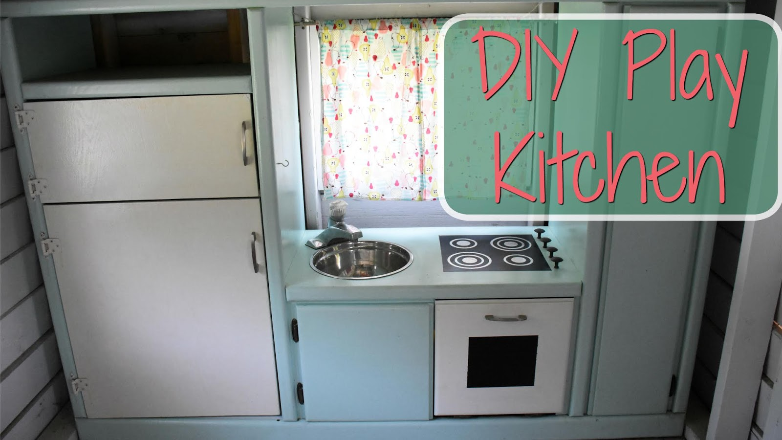This Lovely Life: DIY ENTERTAINMENT CENTER PLAY KITCHEN