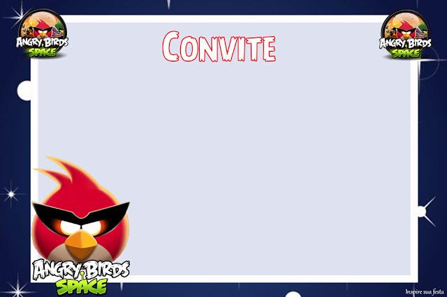 Para hacer Invitaciones, Tarjetas, Marcos de Fotos o Etiquetas de Angry Birds en el Espacio para Imprimir Gratis.
