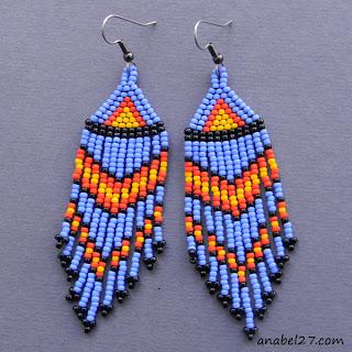 где купить украшения из бисера в этно стиле качественные оригинальные серьги