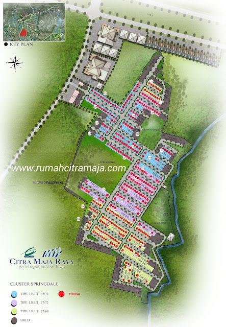 Update stok ketersediaan unit Rumah Citra Maja Raya Cluster Spring Dale