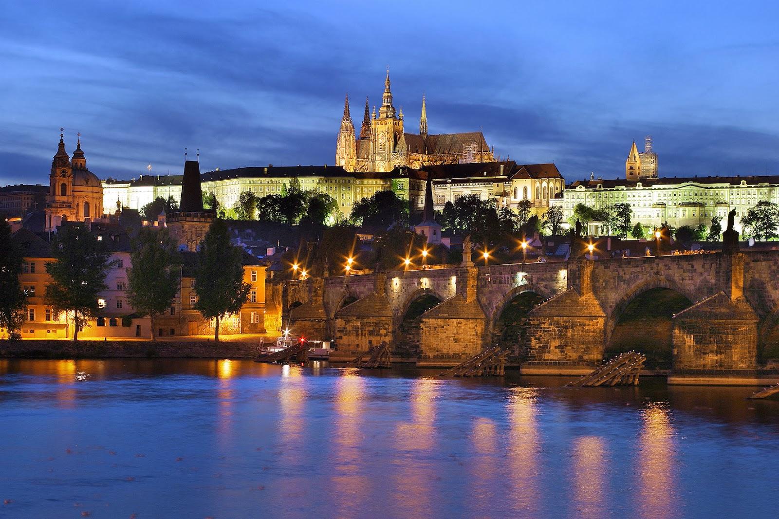 Prague Castle Night View