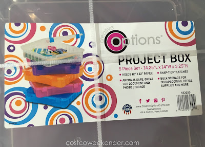 Costco 552250 - Have your kids store pencils, markers, and crayons in the Creative Options Project Boxes