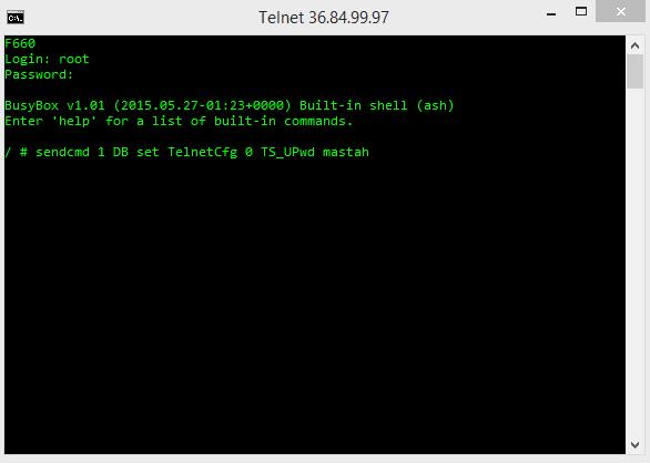 Uncle Tom: How to Change Password Login Telnet Modem ZTE F660