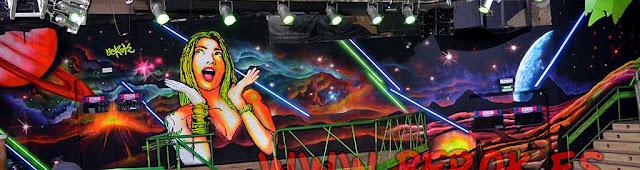Graffiti luz negra Bora Bora