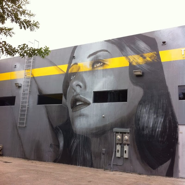 New Street Art Mural By RONE for Art Basel 2013 in Wynwood, Miami. 1