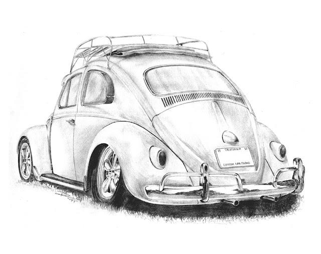 dessin vieille voiture