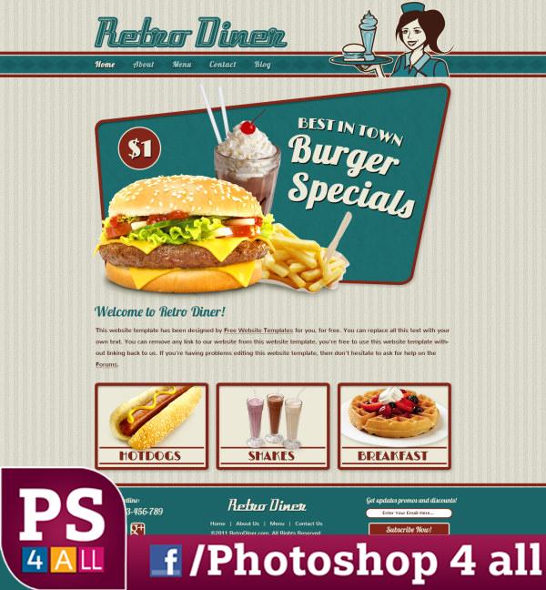 ملف psd لمصممى الدعاية والإعلان لتصميم المنيوهات وإعلانات المطاعم والتصميمات المختلفة الخاصة بالمطاعم