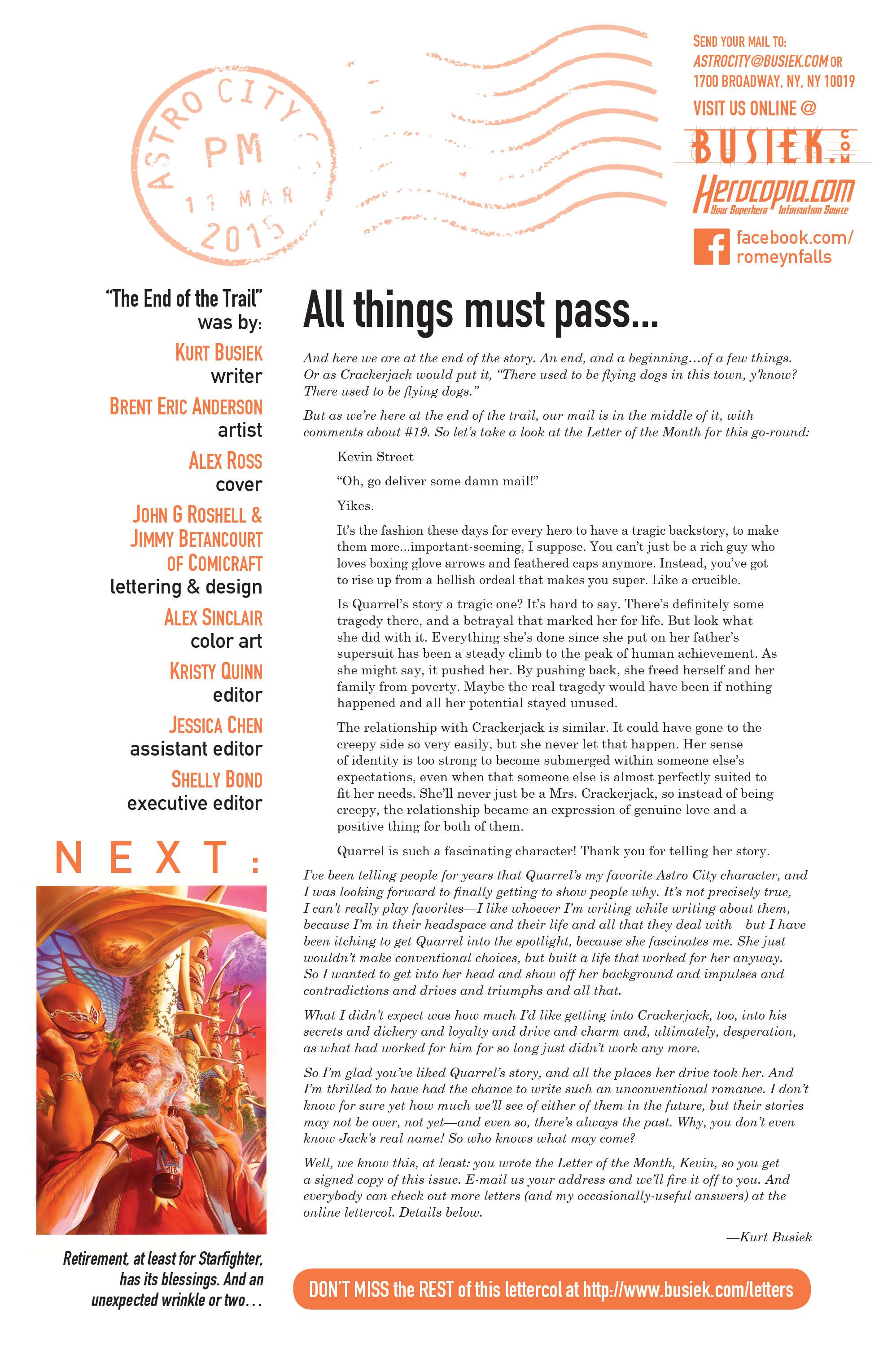 Read online Astro City comic -  Issue #21 - 25