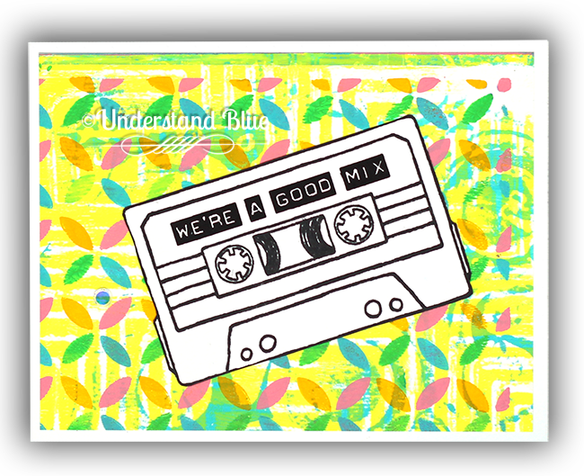 Say Hello and Retro Petals Turnabout card by Understand Blue