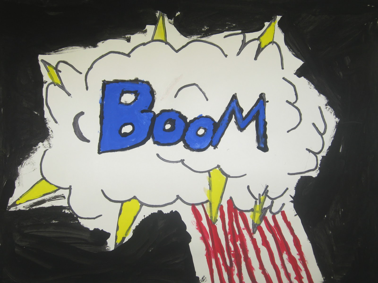 Miss Young S Art Room 3rd Grade Onomatopoeia Pop Art Words