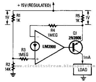 Simple Fixed-Current Regulator Circuit Diagram