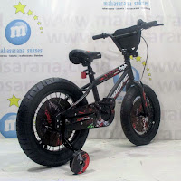 16 pacific batman lisensi bmx sepeda anak