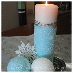 DIY Epsom Salt Ornaments and Candle