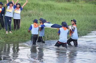 ounbond kegiatan pra kuliah PSPP Yogyakarta nyebrang tandu