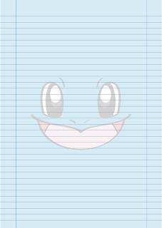 Papel Pautado do Squirtle Pokemon PDF para imprimir na folha A4