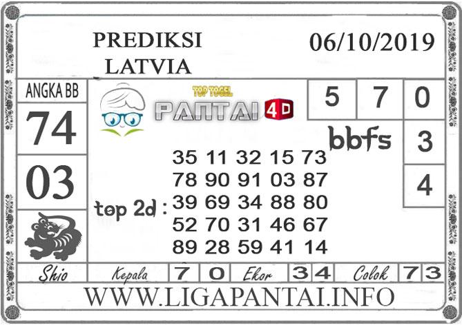 """PREDIKSI TOGEL """"LATVIA"""" PANTAI4D 06 OKTOBER 2019"""