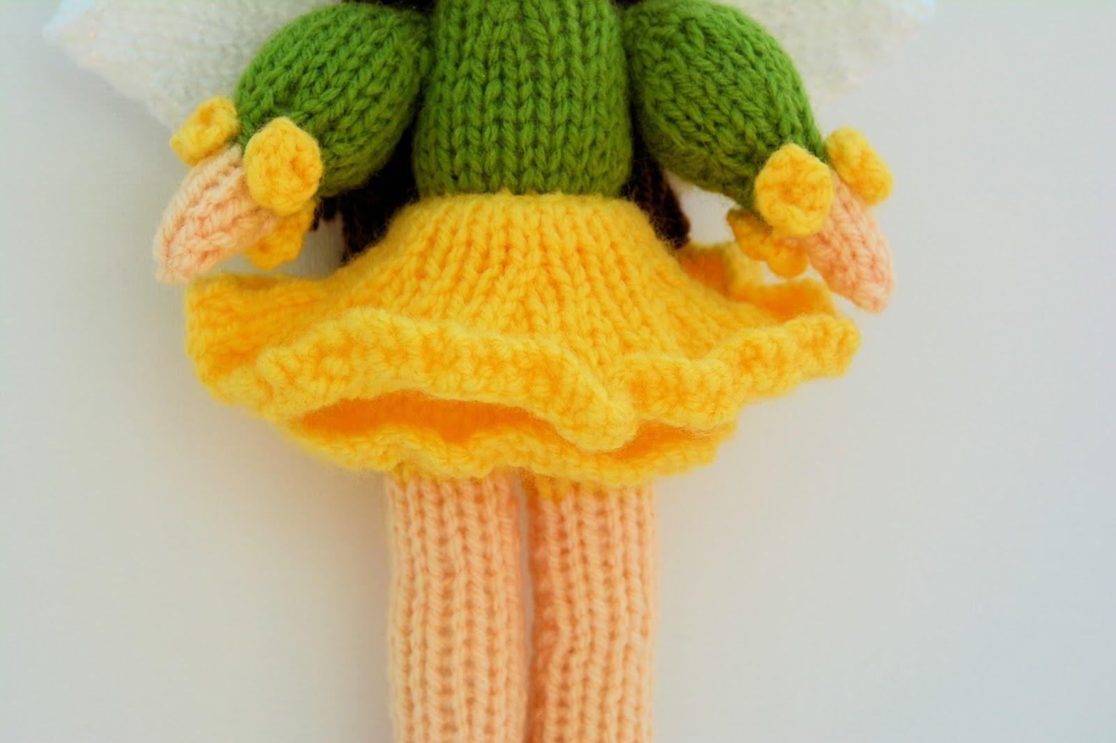 Edith Grace Designs: Daffodil Flower Fairy Doll Knitting Pattern
