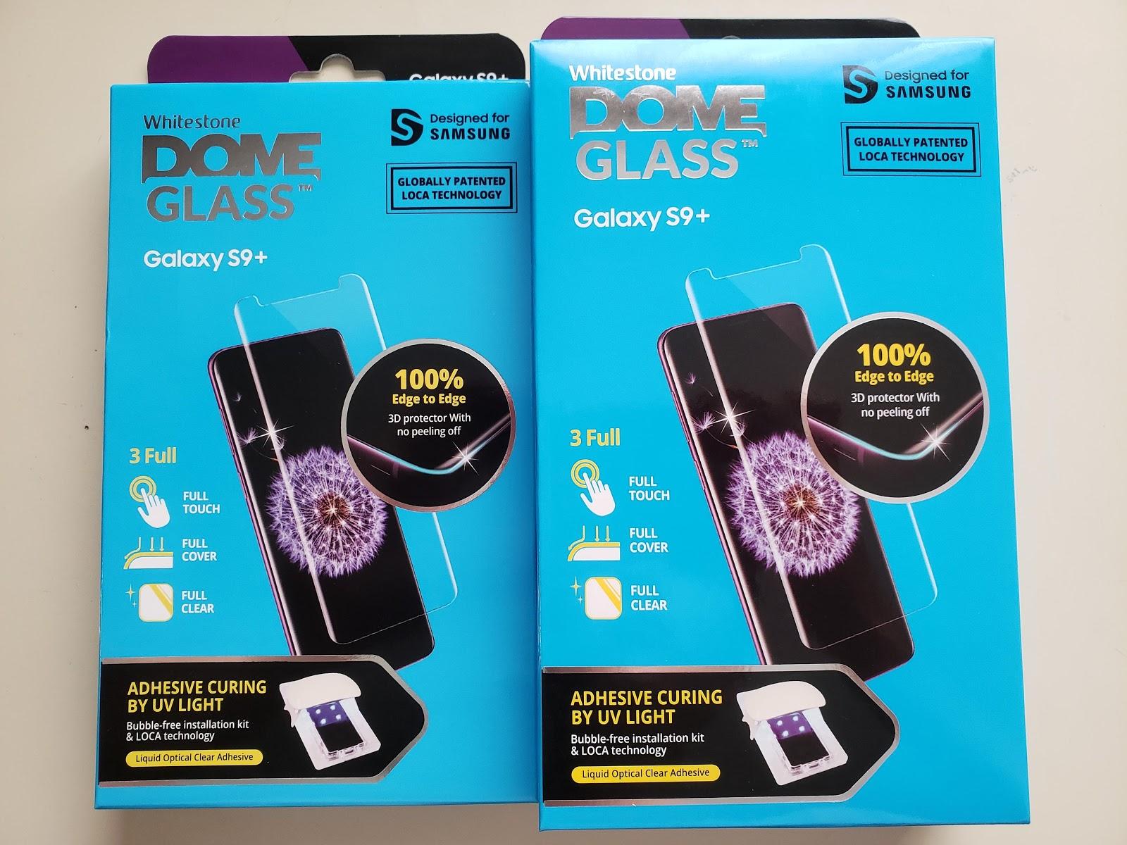 Galaxy S9 用全画面ガラスフィルム Whitestone Dome Glassをレビュー